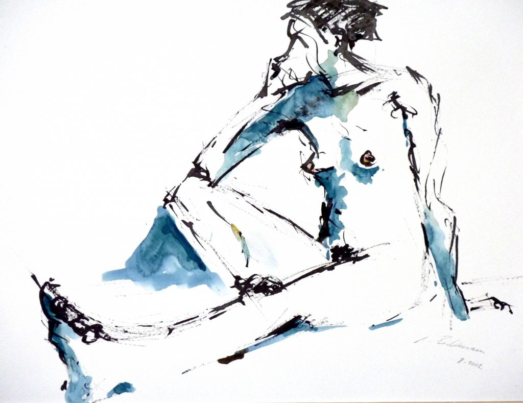 weibl Akt / Tusche Aquarell auf Papier / 2002