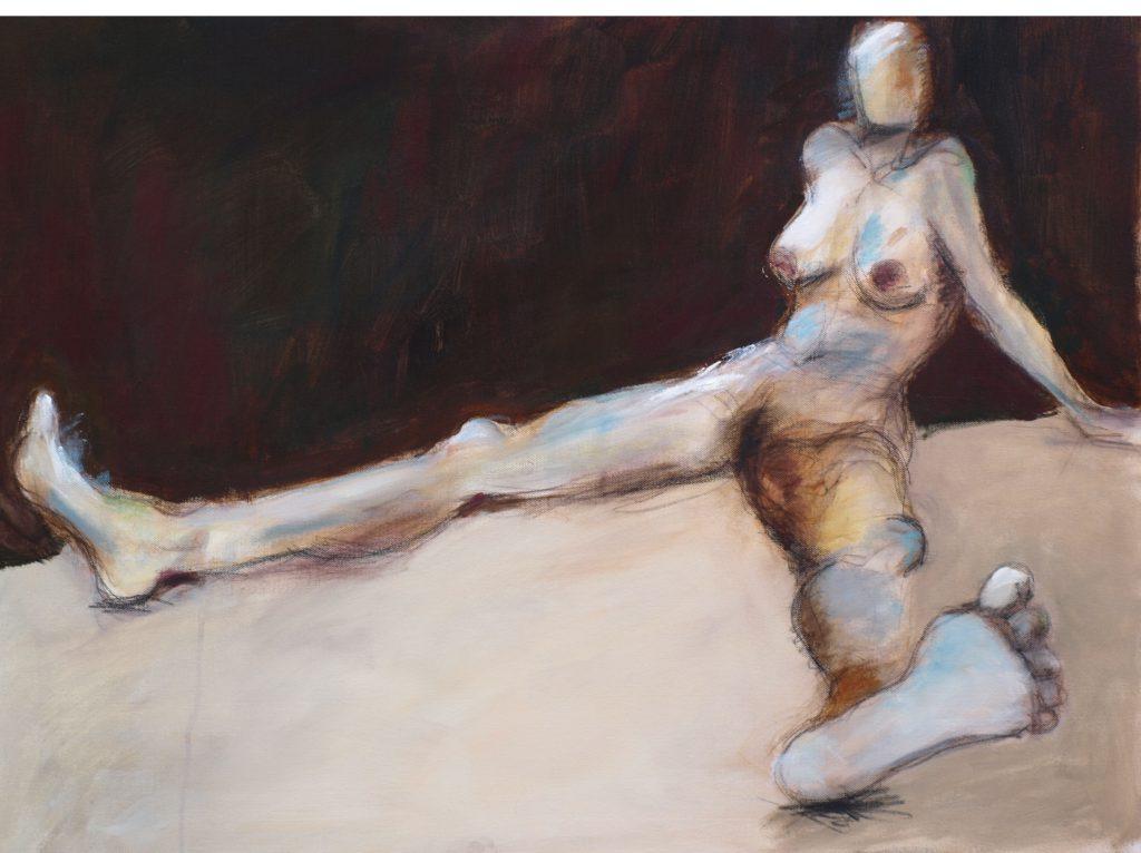 Akt weiblich / 60x80 cm / Acryl / 2009