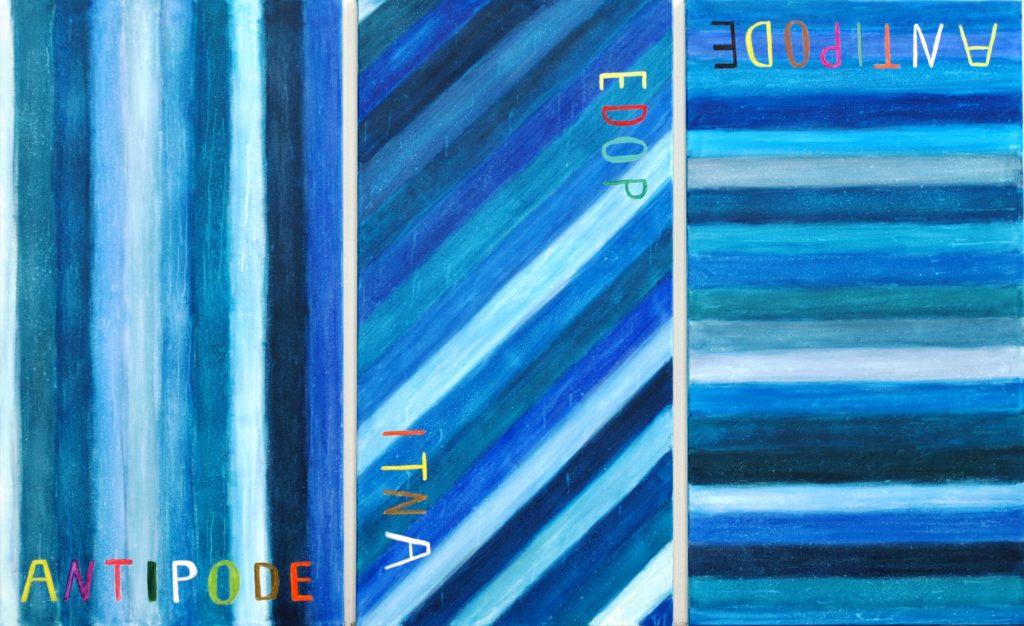 Antipode 1-2-3 / je 120x65 cm / Acryl / 2017