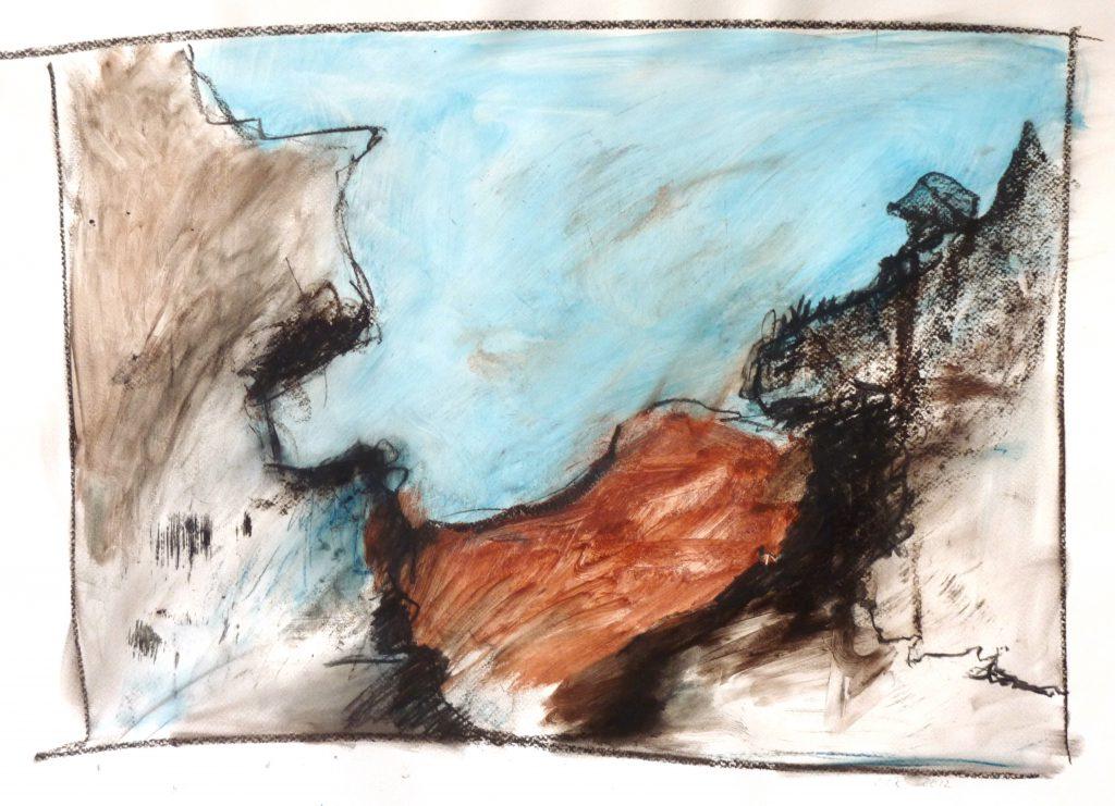 Ausgedacht 1 / 50x70 cm / Mischt. auf Papier / 2012