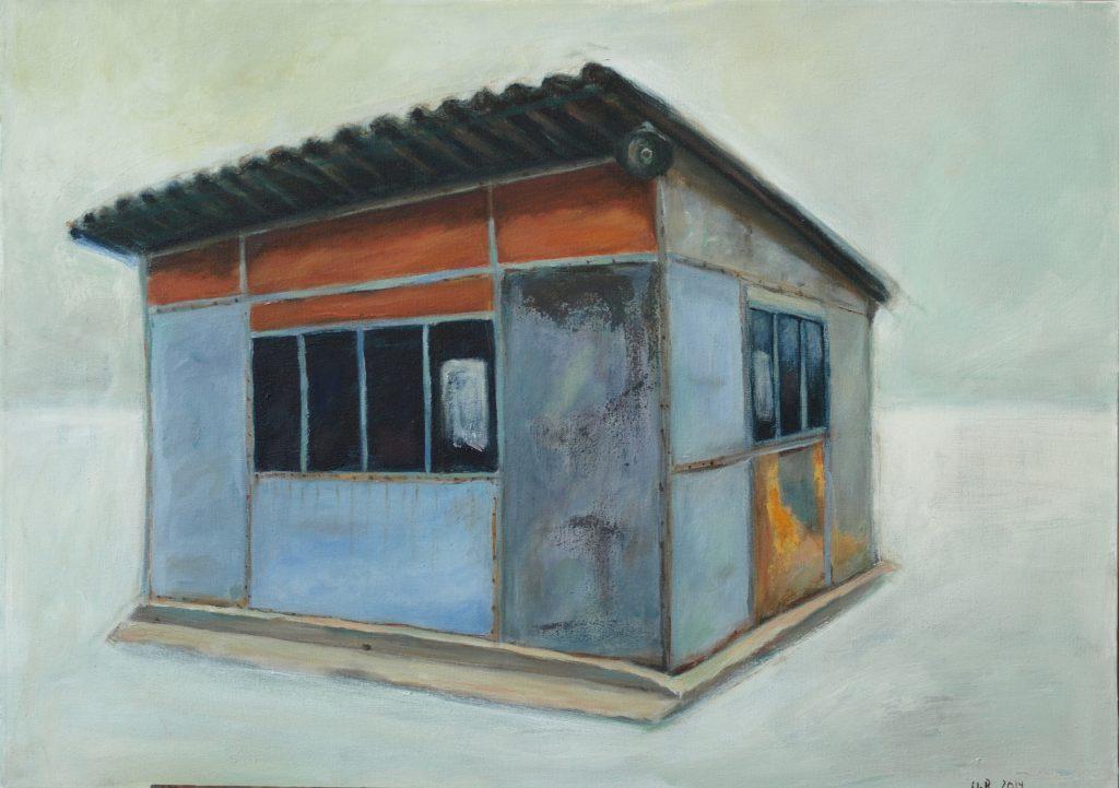 Corabia bus station / 50x60 cm / Acryl / 2014