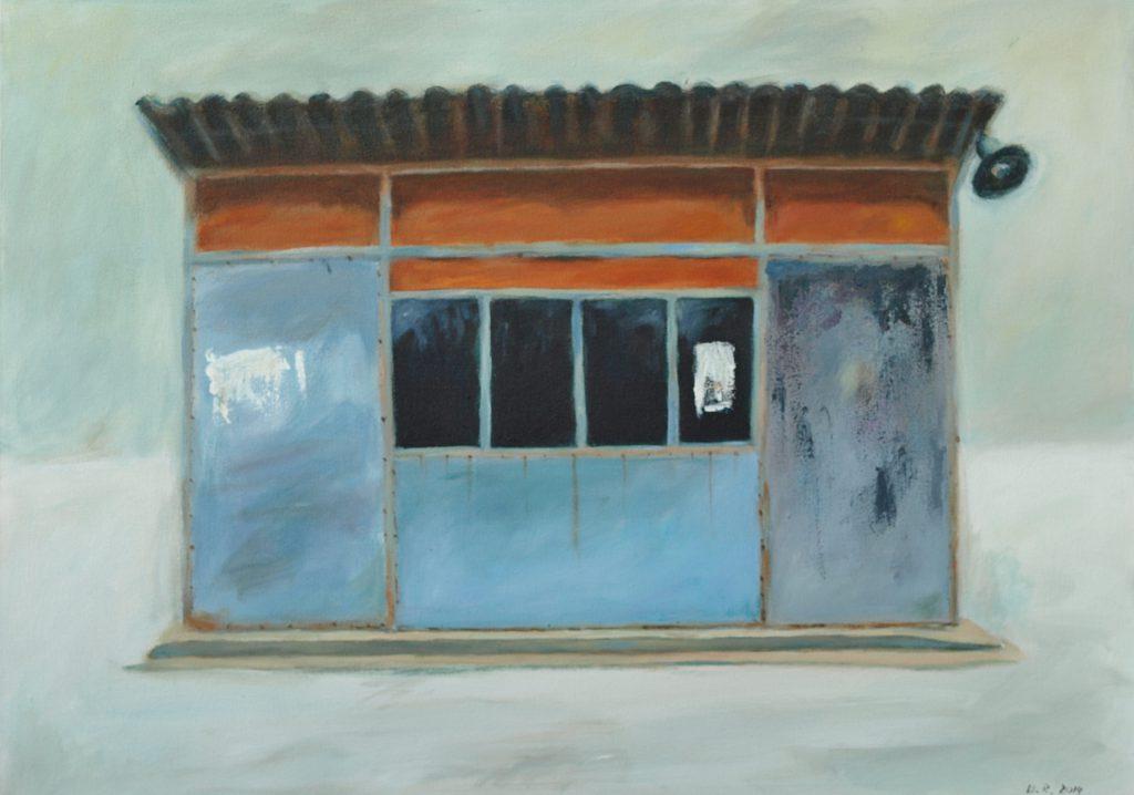Corabia bus station 2 / 50x60 cm / Acryl / 2014