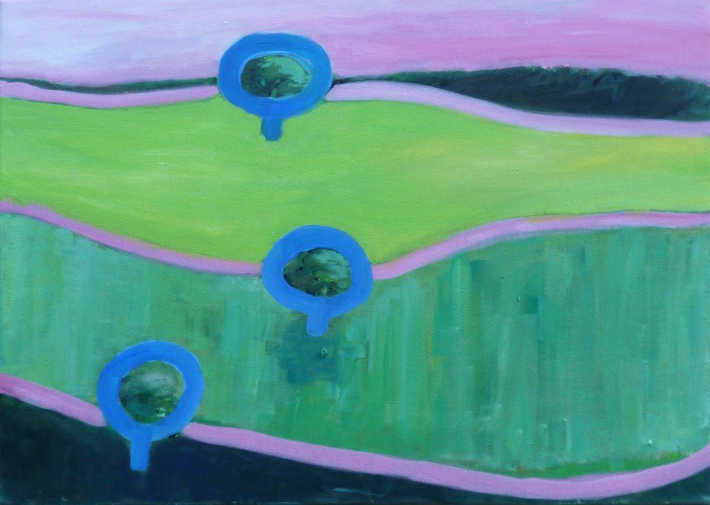 Eifel in Pink / 50x70 cm / Acryl / 2011