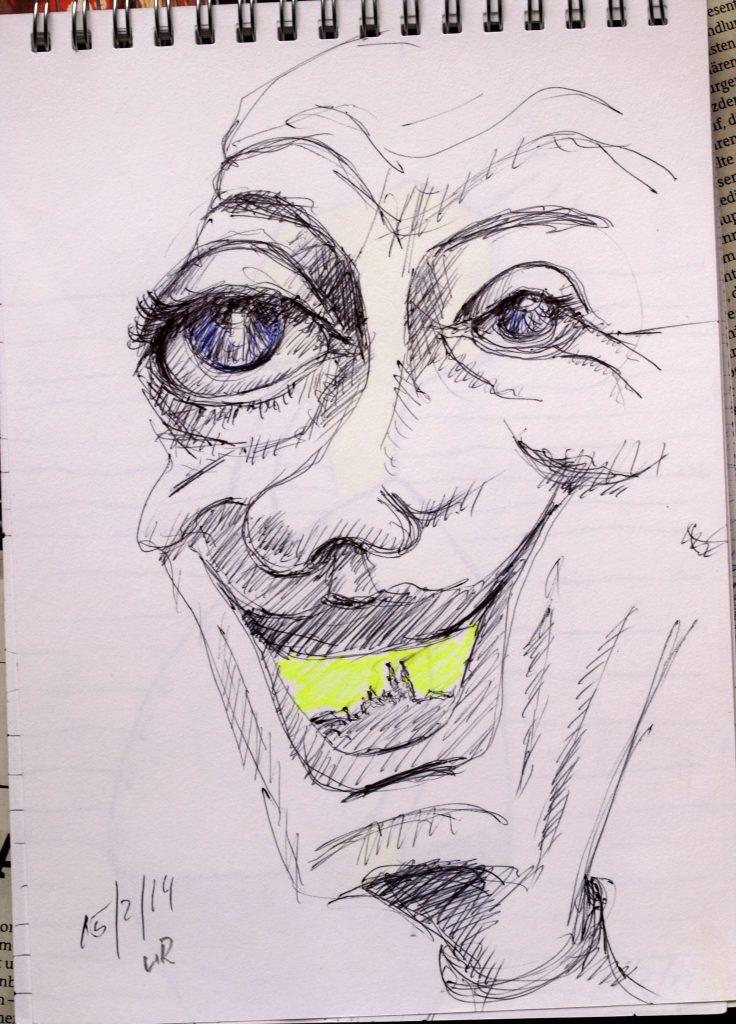 0. T. / Kugelschreiber und Marker / 2014