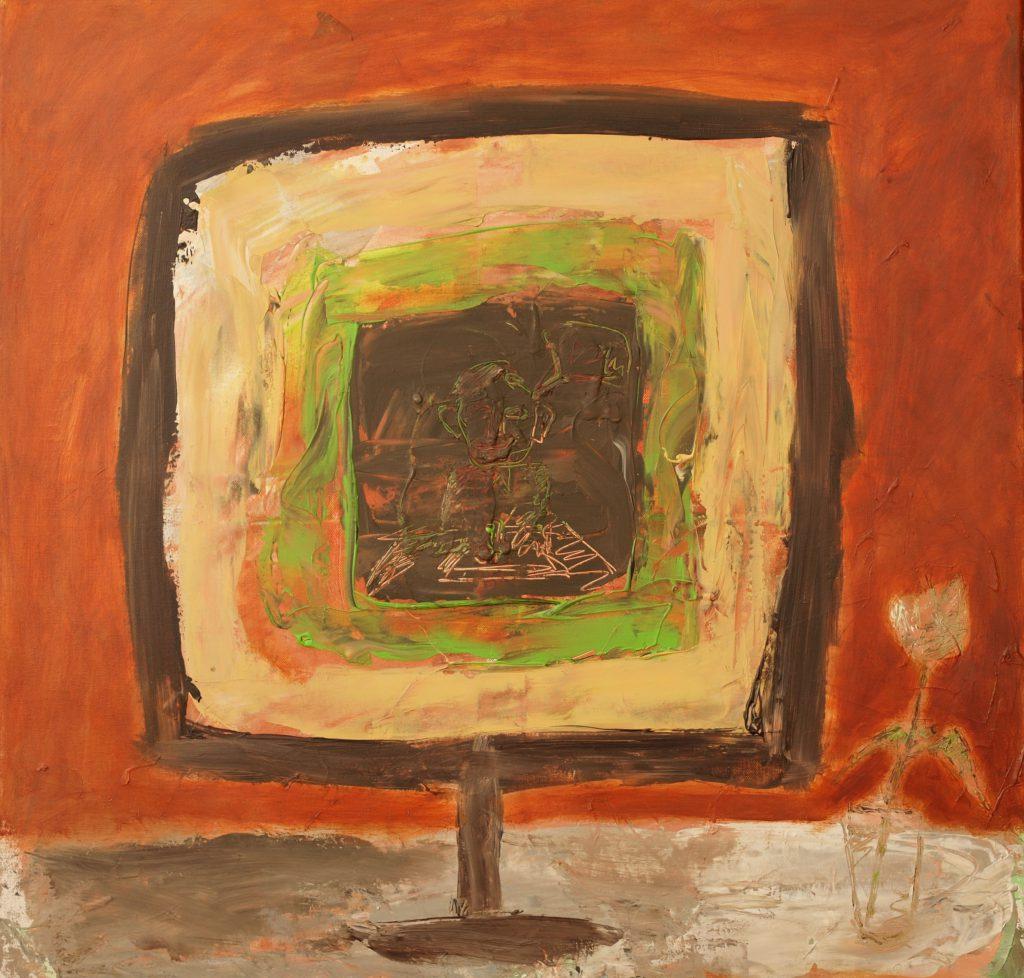Am Rand die Tulpe / 80x80 cm / Acryl / 2013