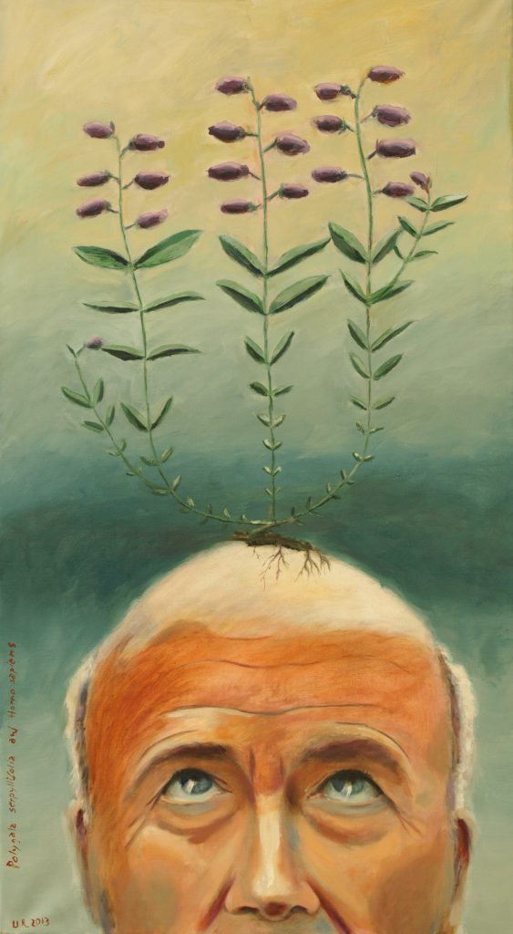 Polygala serpyllifolia auf H. sapiens / 100x55 cm / Acryl / 2013