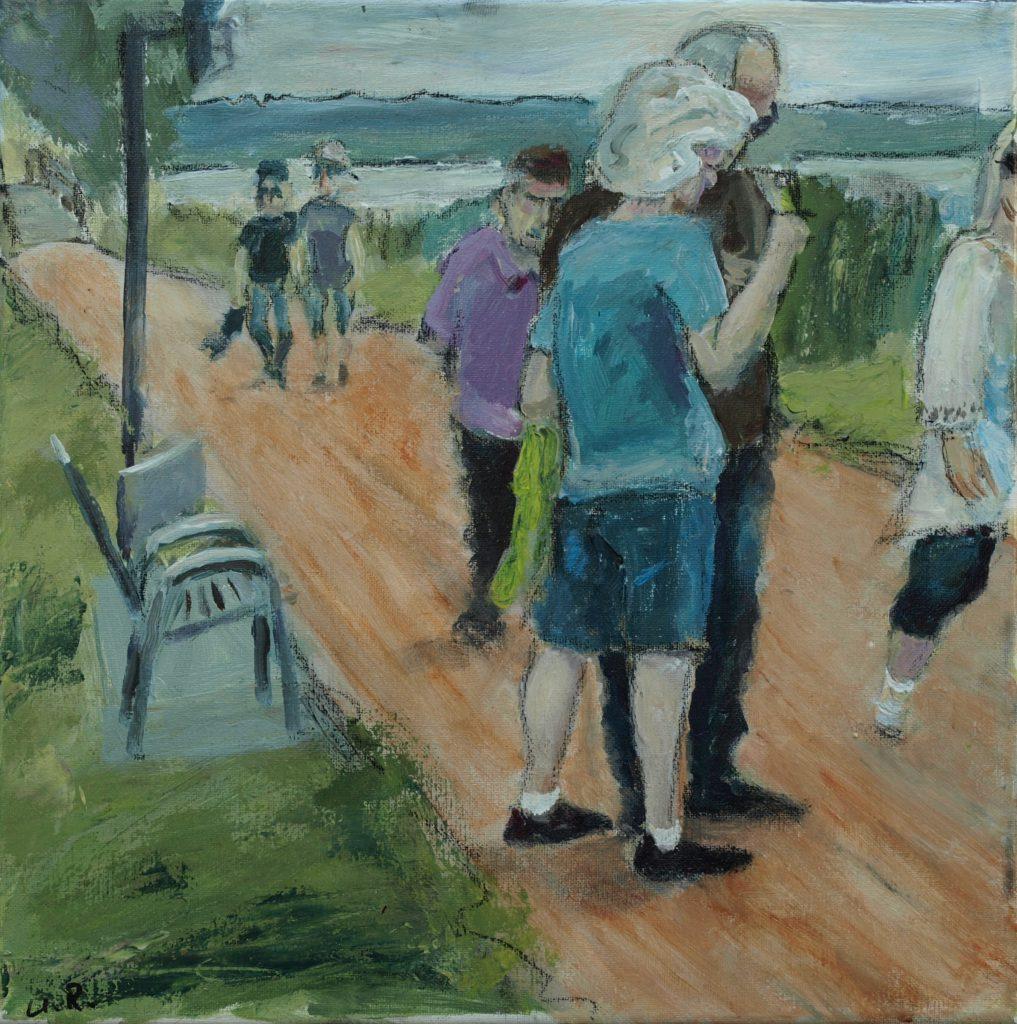 Steinhuder Promenade 1 / 30x30 cm / Acryl / 2019
