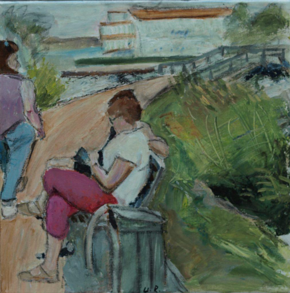 Steinhuder Promenade 2 / 30x30 cm / Acryl / 2019