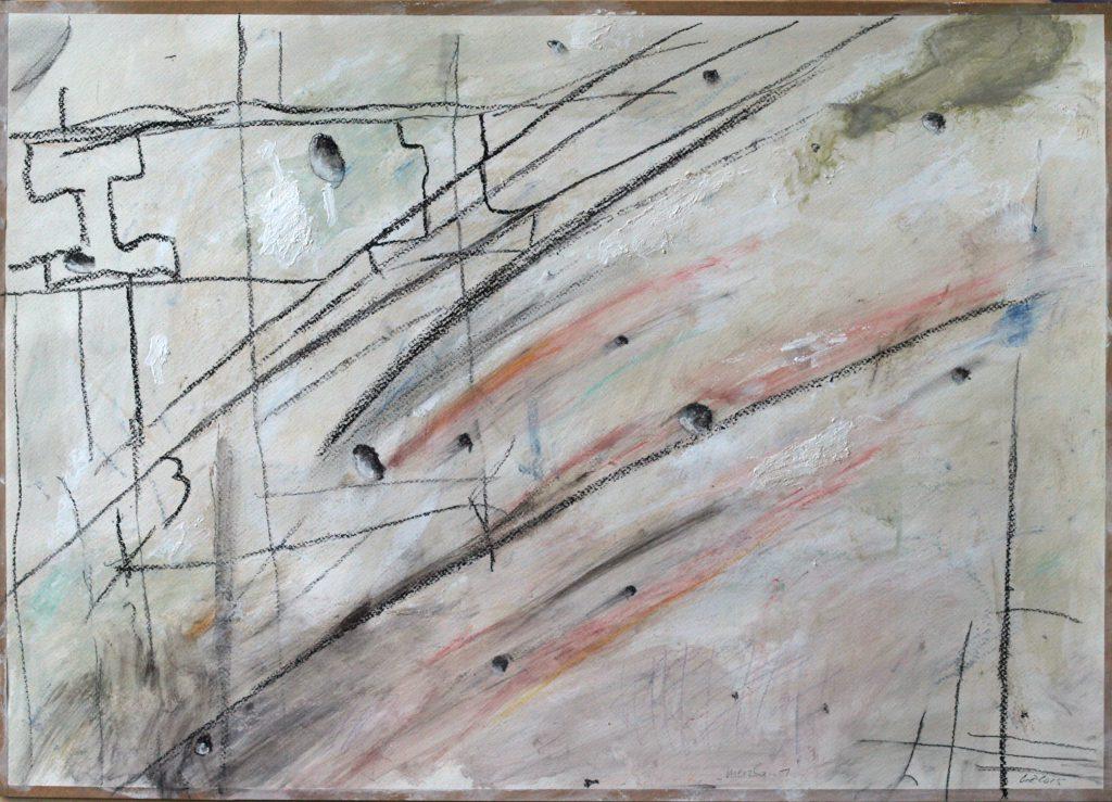 Merzbau 1 / 50x70 cm / Mischtechnik auf Papier / 2015