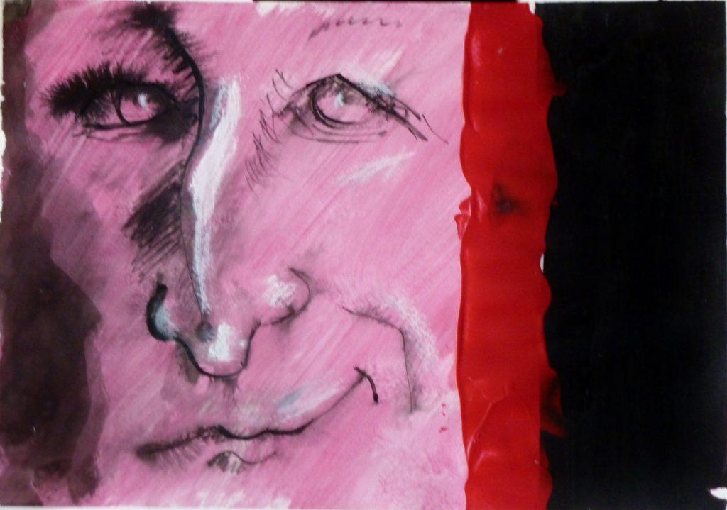 ohne Titel / 50x70 cm / Acryl_tusche Papier / 2012