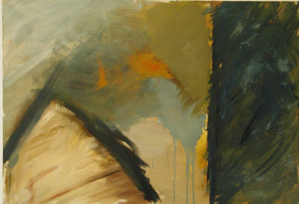 Komposition aus der Tiefe / 70x100 cm / Öl / 1998